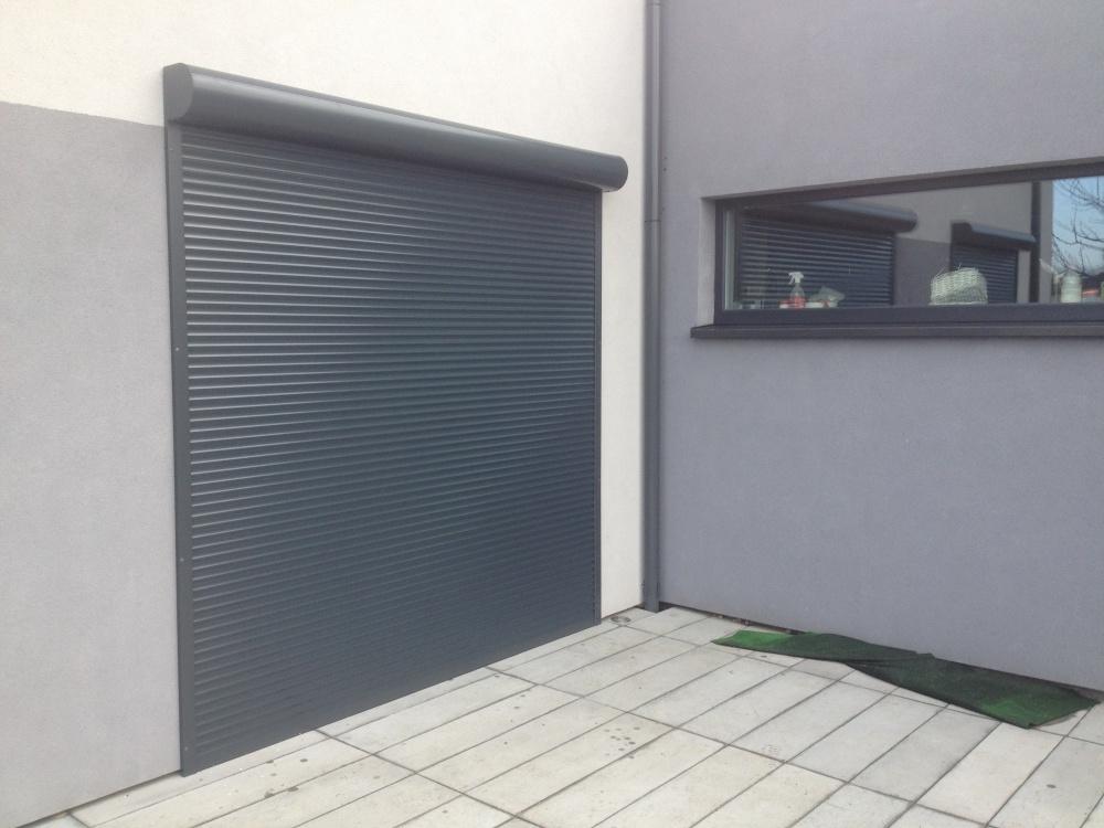 Niesamowite Rolety zewnętrzne natynowe antracyt Tychy, Fasada system IL05